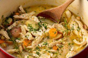 Суп с куриными грудками