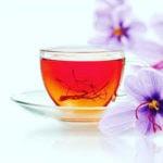 черный чай с шафраном