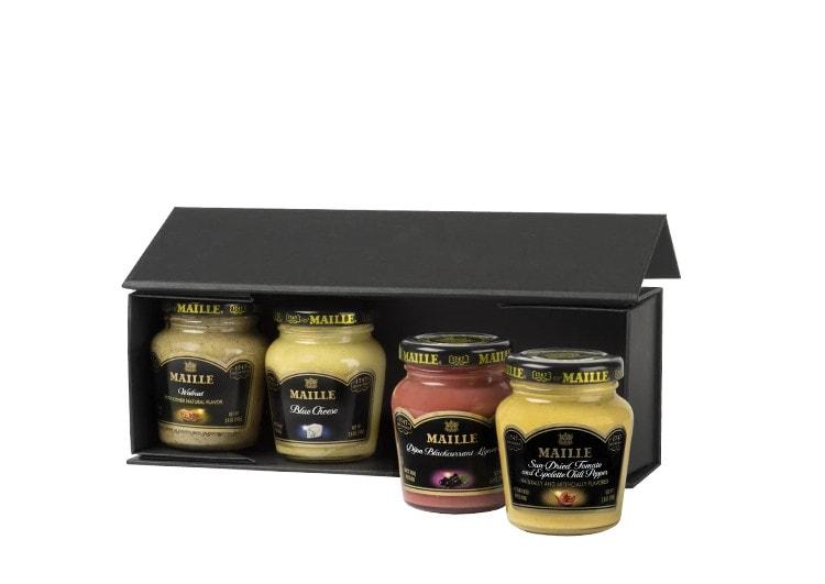 Фирменная упаковка дижонской горчицы Maille