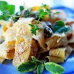 Макароны с тыквенным маслом и сыром